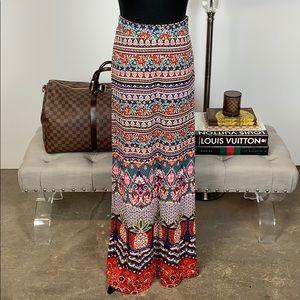 order online outlet for sale 2020 Anthropologie Farm Rio Mixed-Print Maxi Skirt XS NWT